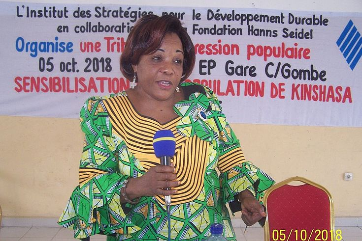 Mme Faida MWANGILWA, Modératrice de l'activité