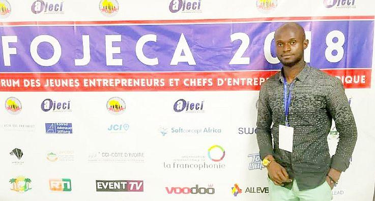 Cédric ONOYA, lauréat de Kin Startup Academy